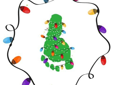 christmas finger painting ideas
