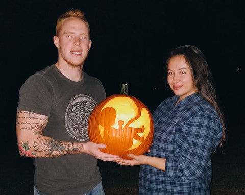 jack o'lantern pregnancy announcement
