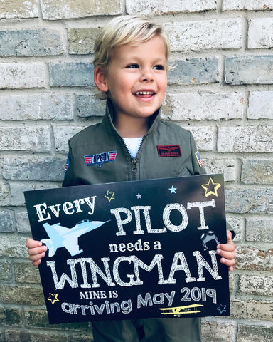 pilot pregnancy announcement