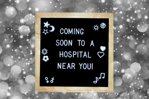 felt letter board baby announcement