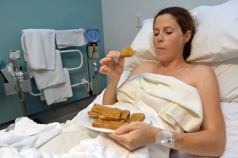 pregnant woman eating food