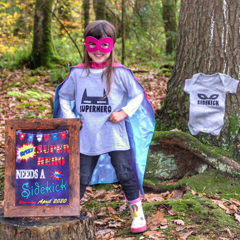 super hero pregnancy announcement