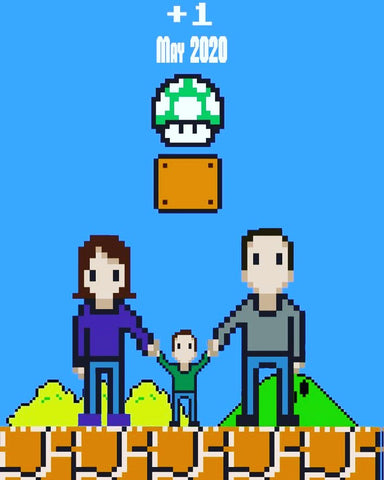 super mario pregnancy announcement