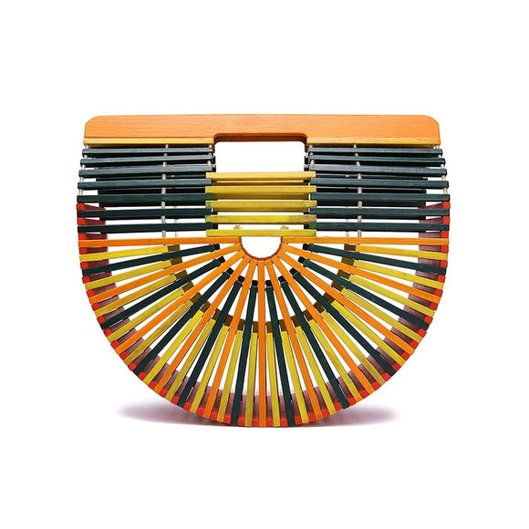 Women Bamboo Bag Summer Beach Bags For Women Woven Hollow Out Bamboo Handbag Lady Wood Clutch Bags Handmade Handbags Bolso Bambu