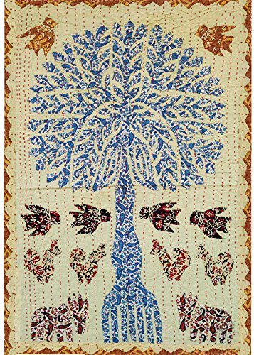Set of 2 Tree of Life Patchwork Tapestry Wall Decor