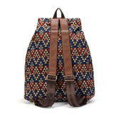 Sansarya Hollow Out PU Leather Bohemian Vintage Backpack