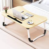 Foldable Bed Tray Lap Desk, Portable Lap Desk with Phone Slots Notebook Table Dorm Desk, Small Desk Folding Small Dormitory Table, Perfect for Watching Movie on Bed Or As Personal Dinning Table