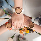 Women/Ladies' Bamboo Wood Luxury Watch Timepieces Silicone Straps BOBO BIRD