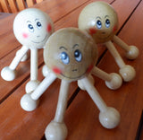 Set of 2 Octopus Wooden Handicraft Manual Massager Reflexology