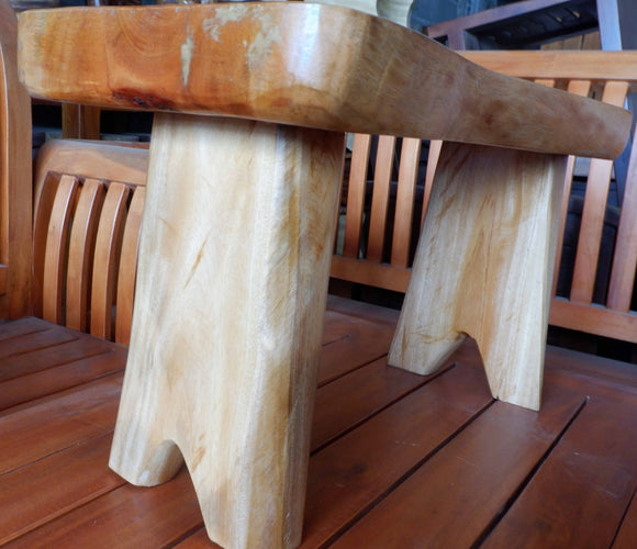 Wooden Natural Wood Small Single Handicraft Bench