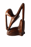 Thinker Wooden Handicraft Decorative Paperweight