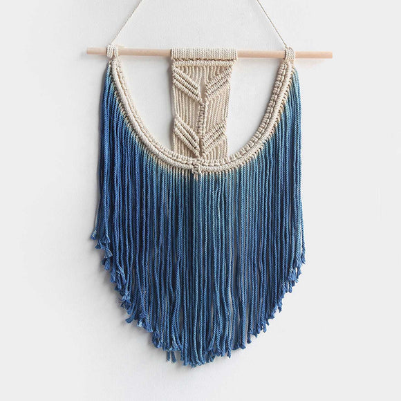 Wall Hanging Tapestry Hand Woven Pendant Decoration House Ceremony Living Room Home Furnishing Accessories Mandala Blu