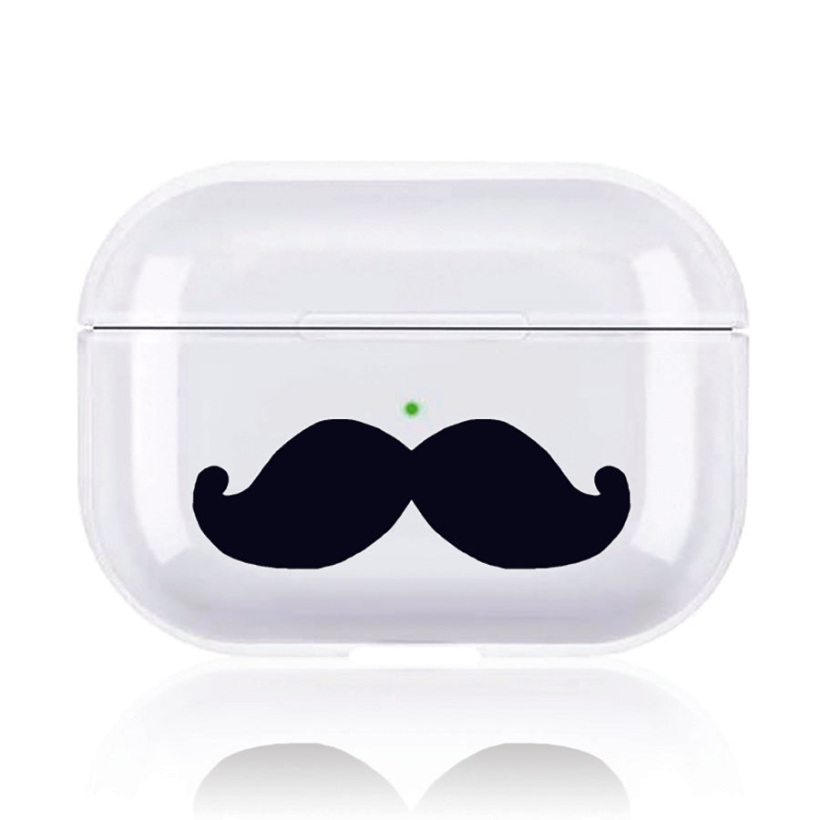 Clear Protective Case With Cute Design Print For Airpods Pro Mustach Walvodesign