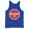 "No Way Jose ""Stop Sign"" Unisex Tank Top - wweretro"