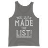 "Chris Jericho ""You Made the List"" Unisex Tank Top - wweretro"