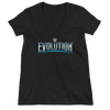 WWE Evolution Logo Women's Deep V-Neck T-Shirt