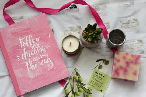 Flatlay - Renew and Revitalize Gift Box - Gift Idea for her