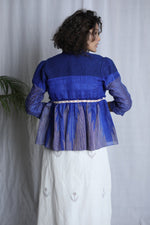 BLUE SHORT PLEATED OVERLAY