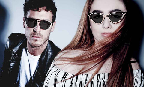 Female and Male modelling JOIUSS sunglasses