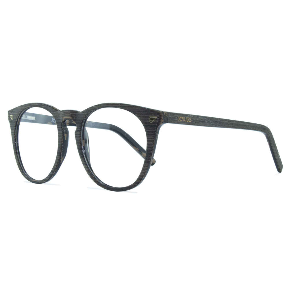dark grey large round glasses