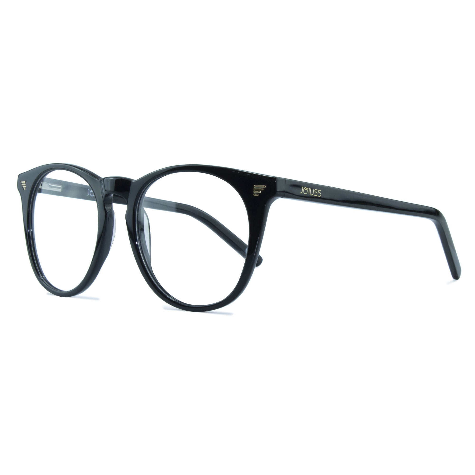 black large round glasses
