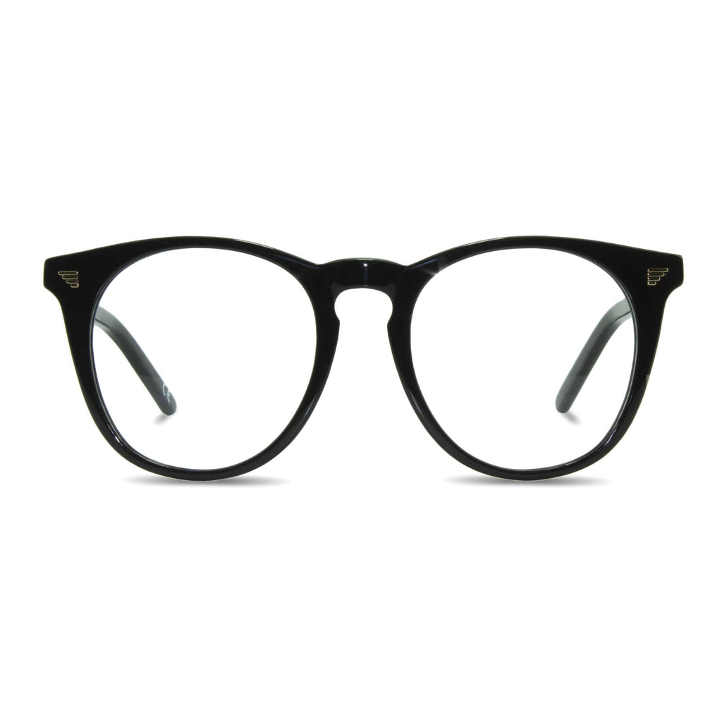 joiuss deano black round glasses