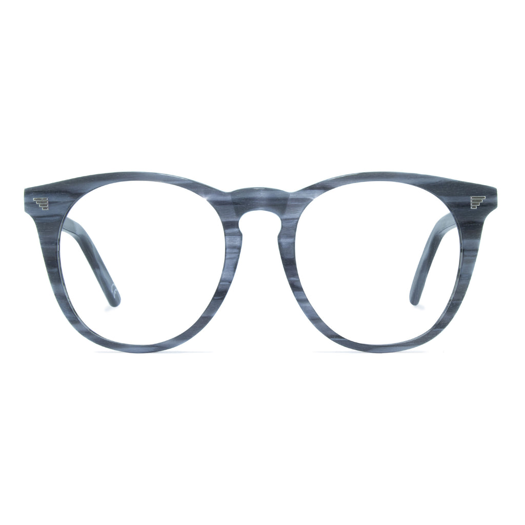 light grey large round glasses frame
