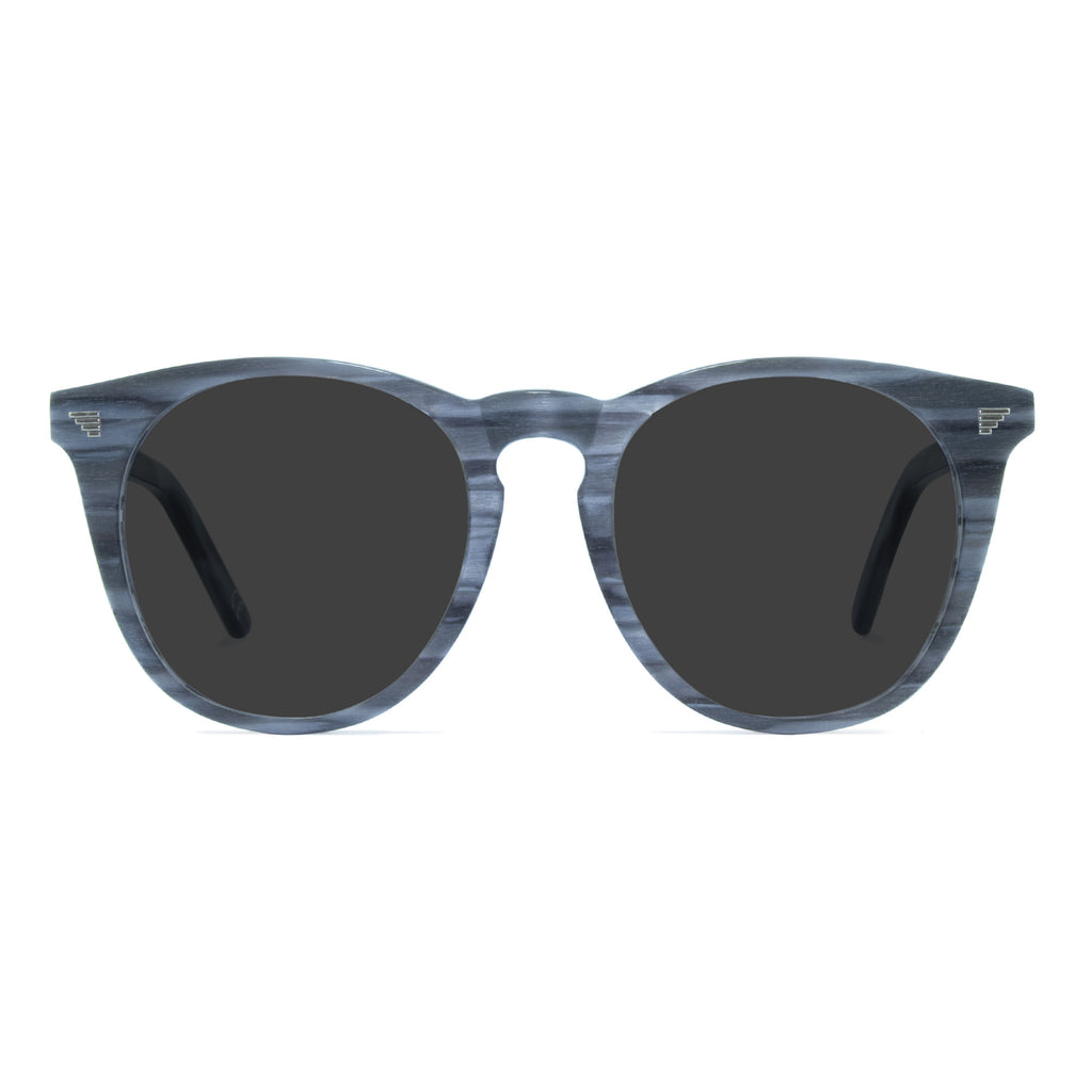 light grey round sunglasses