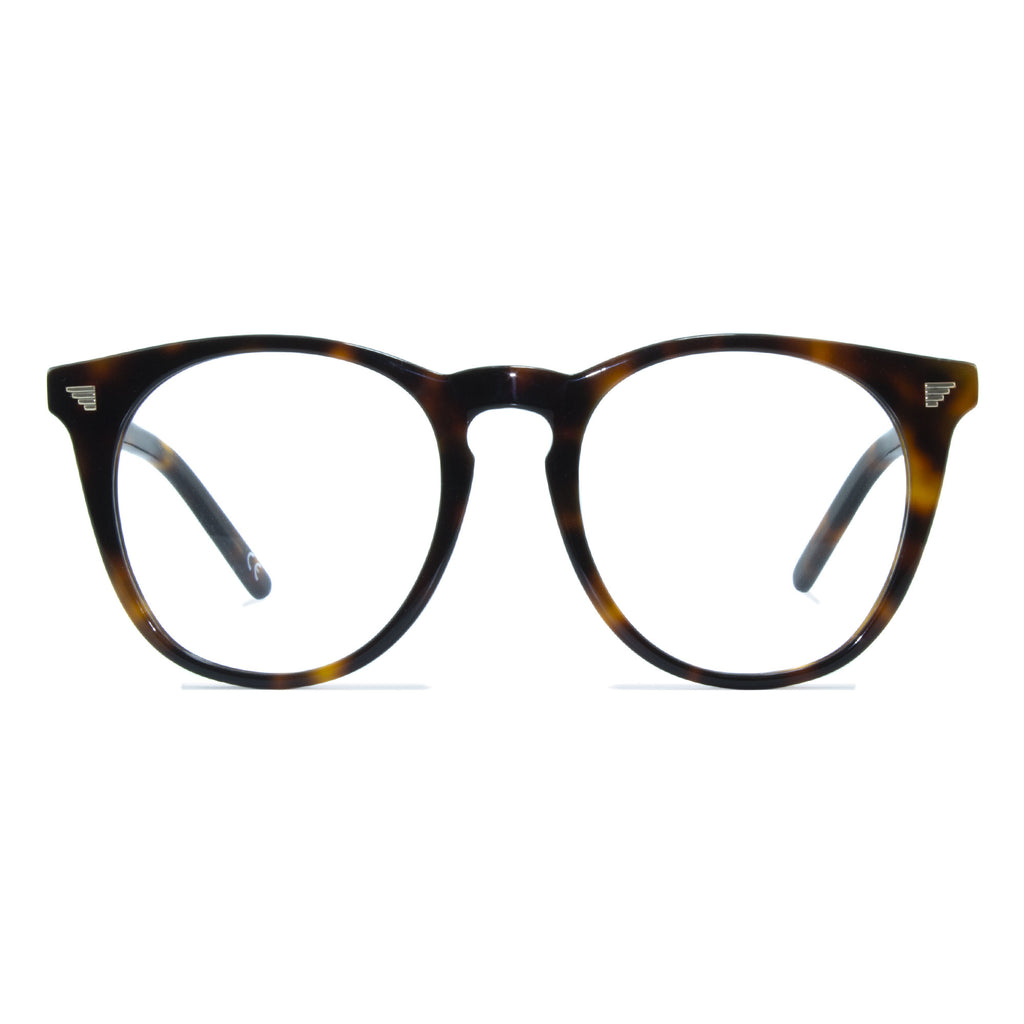 tortoiseshell large round glasses
