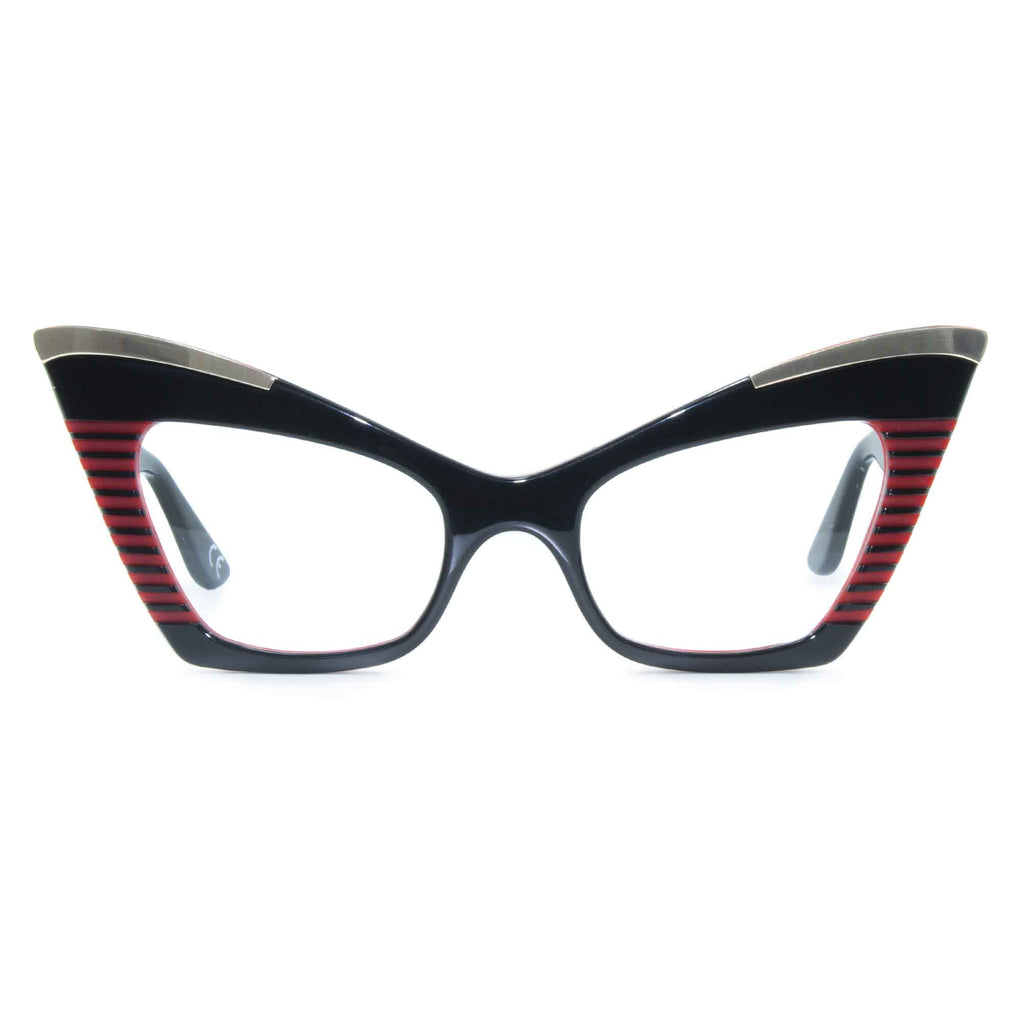 black & red cat eye glasses