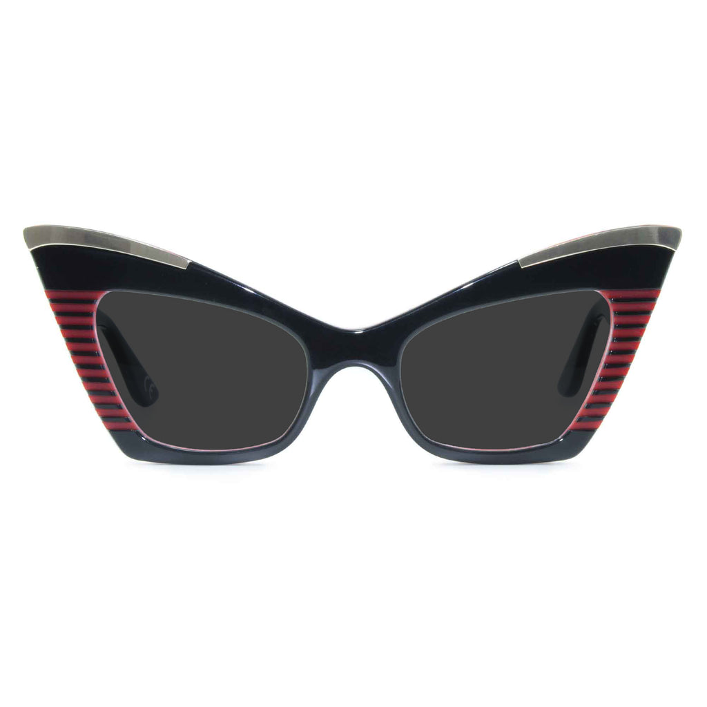 doreen black red cat eye sunglasses