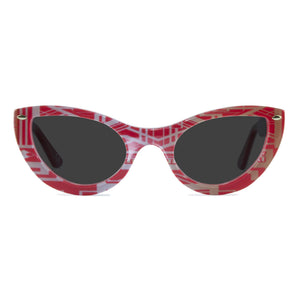 gatsby red gold cat eye sunglasses