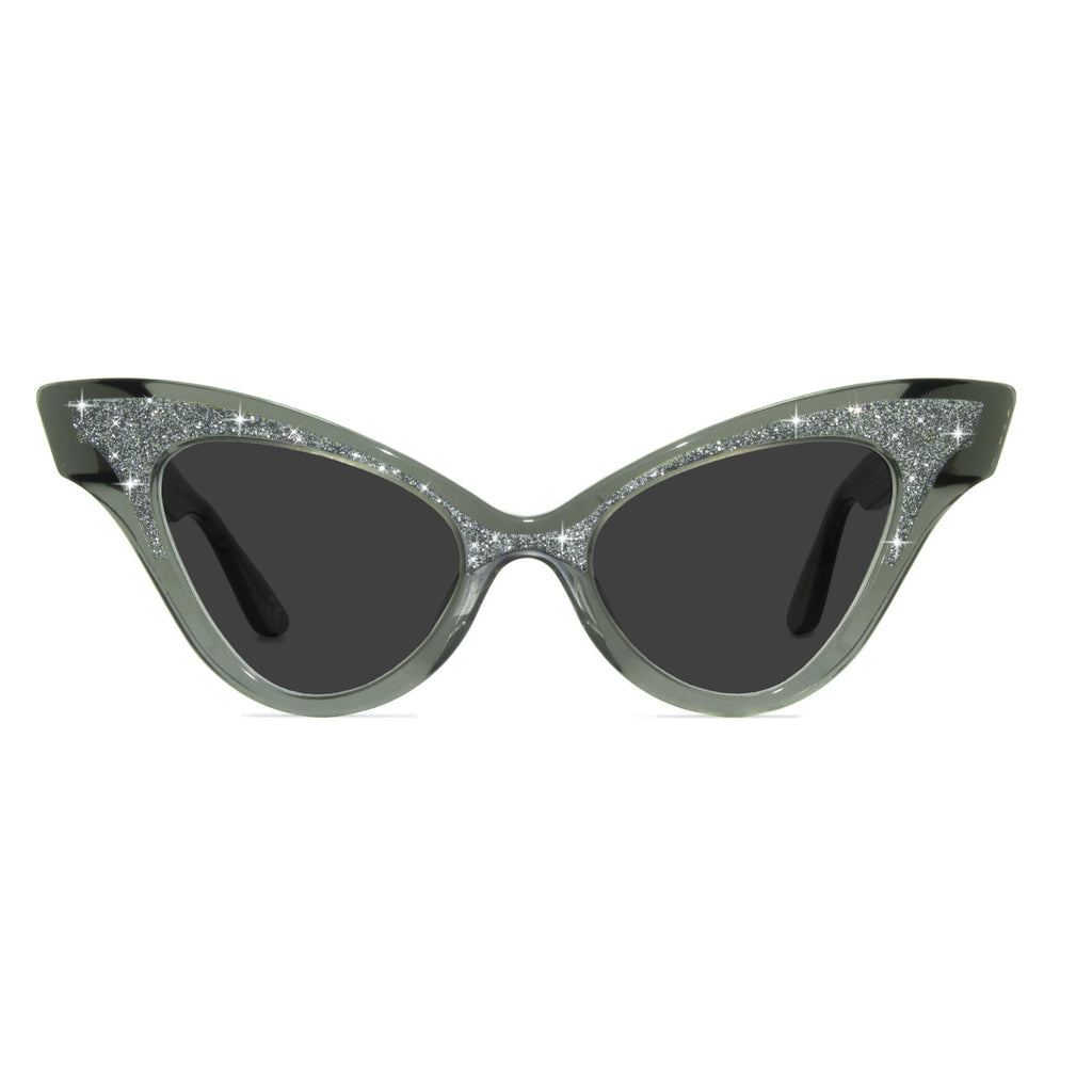 glimmer clear black sparkle sunglasses