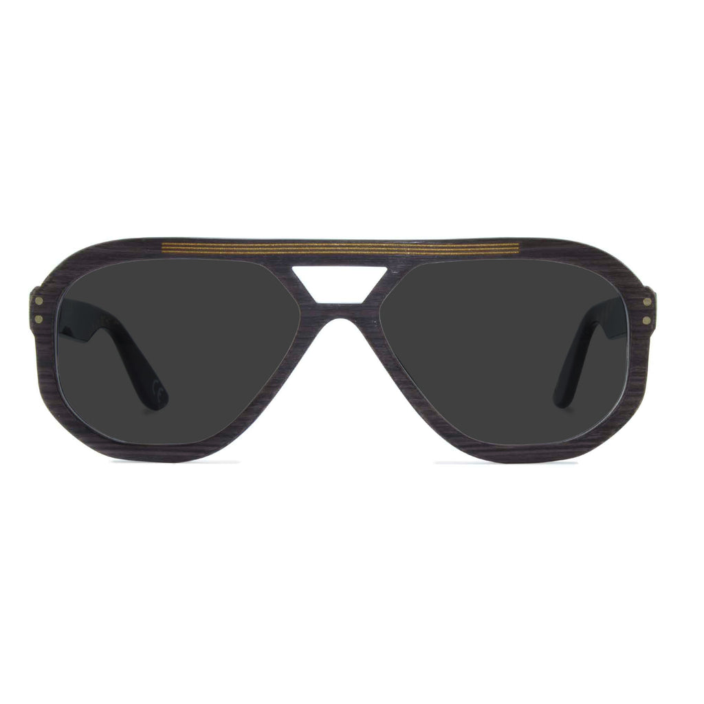 dark grey navigator sunglasses