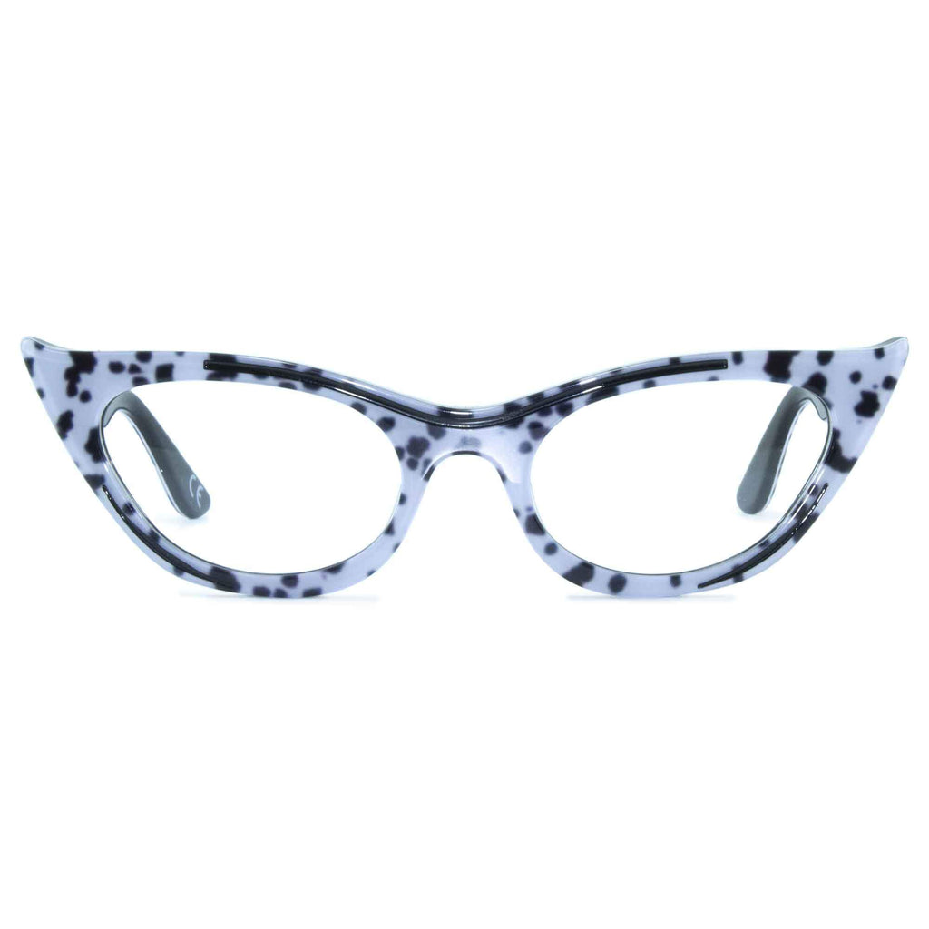 dalmatian print winged cat eye glasses