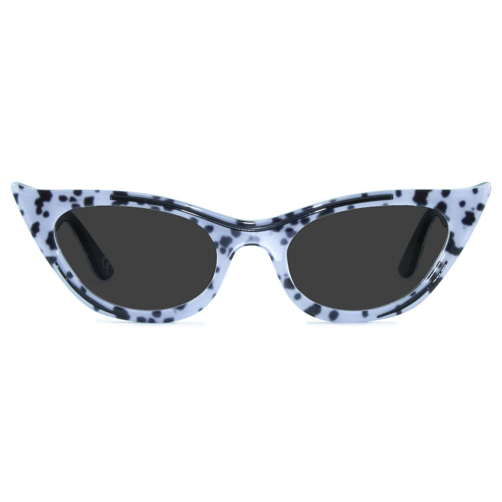 dalmatian print winged cat eye sunglasses