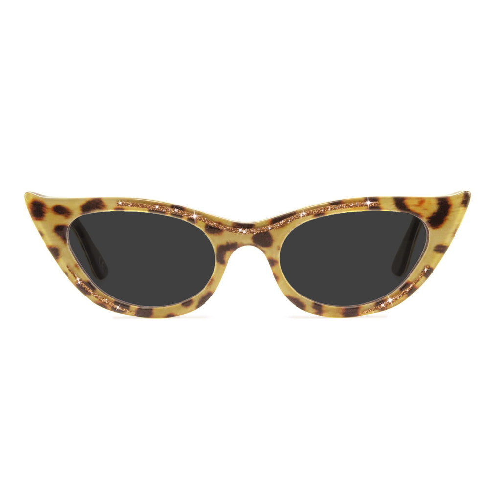 lana leopard cat eye sunglasses