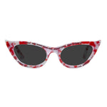 red marble winged cat eye sunglasses