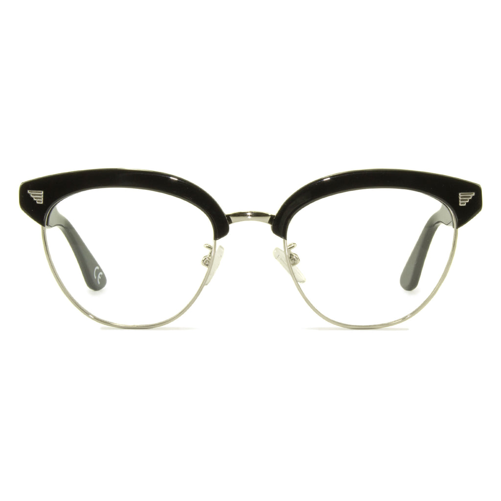 black clubmaster glasses