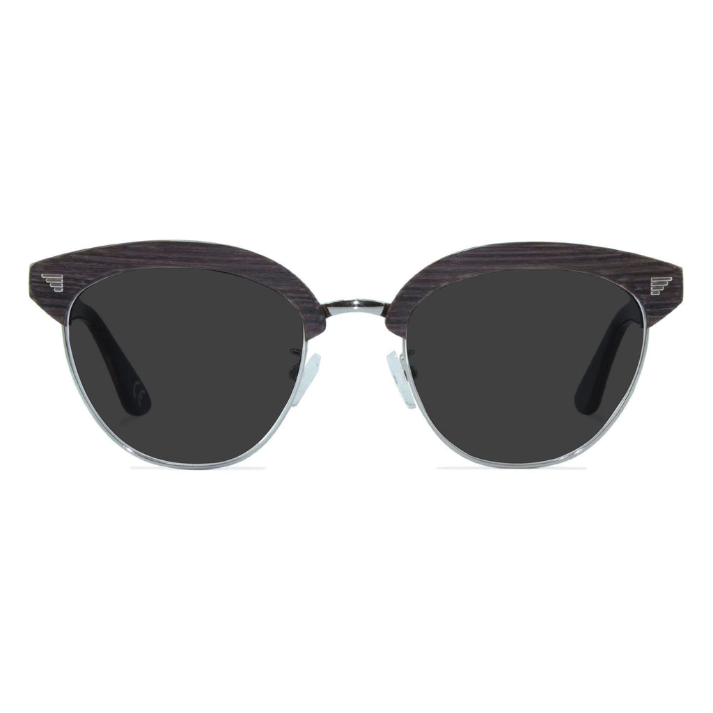 dark grey browline sunglasses