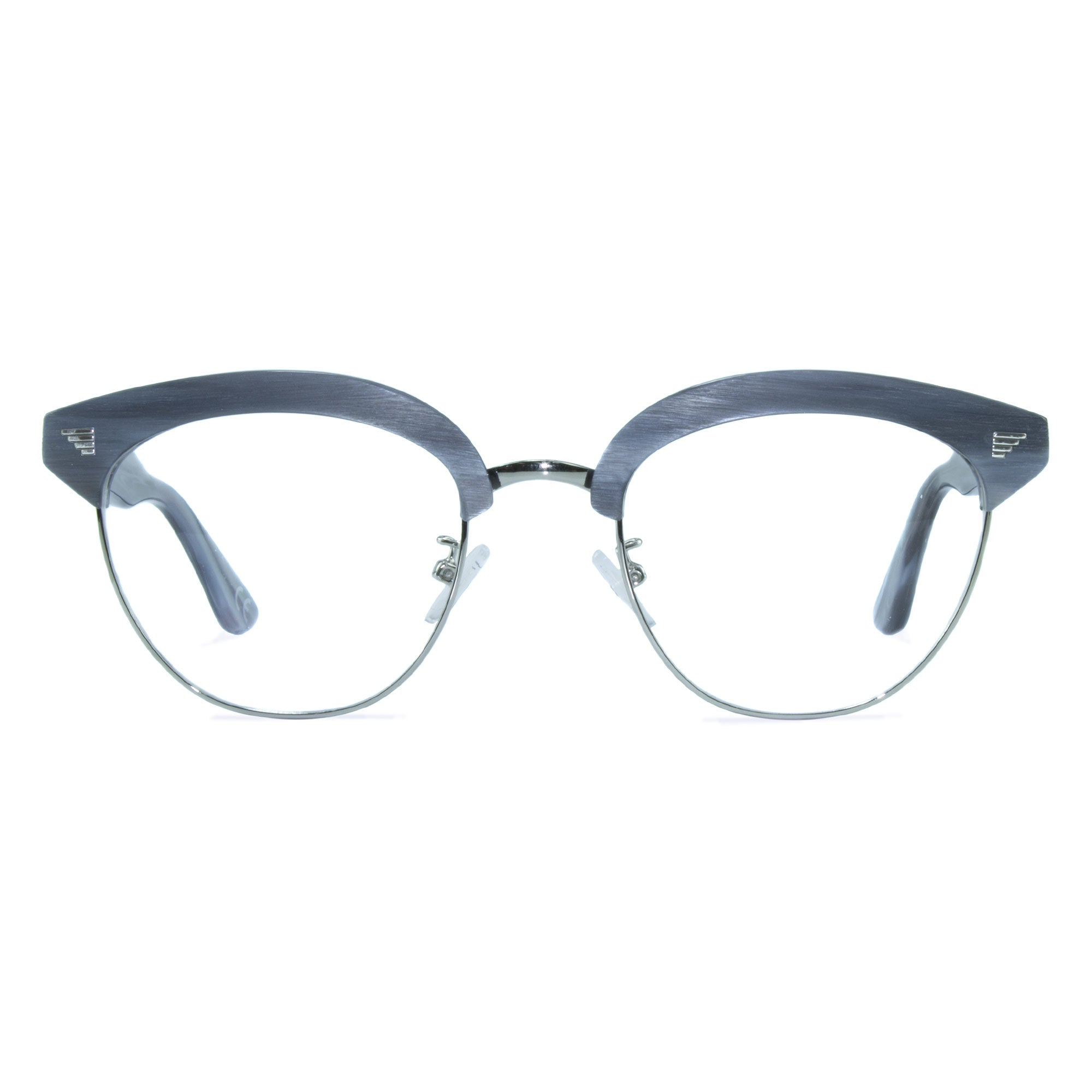 light grey clubmaster glasses
