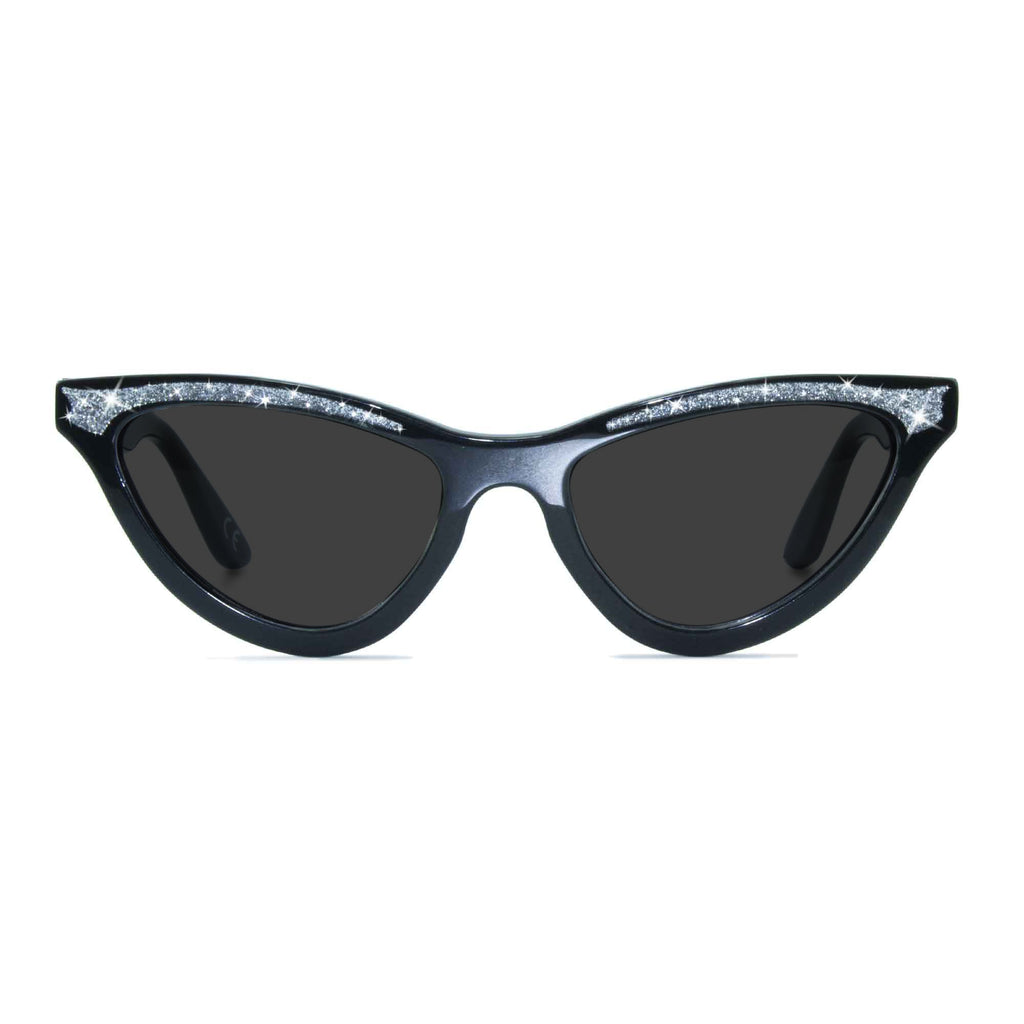 maryloo black cat eye sunglasses