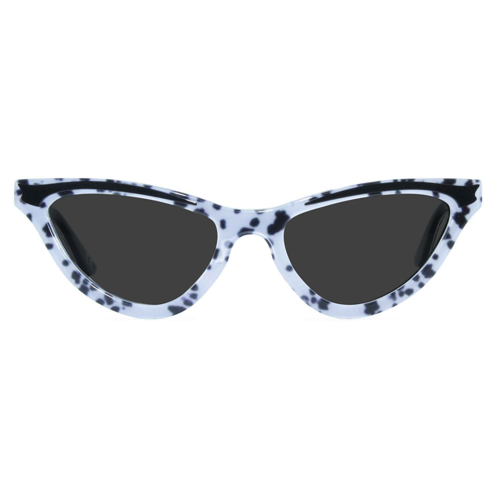 dalmatian print cat eye sunglasses