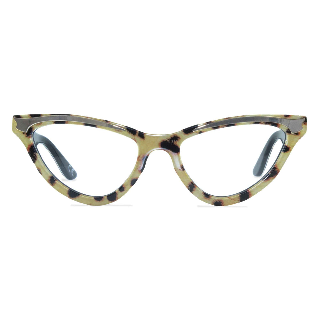 leopard print cat eye glasses