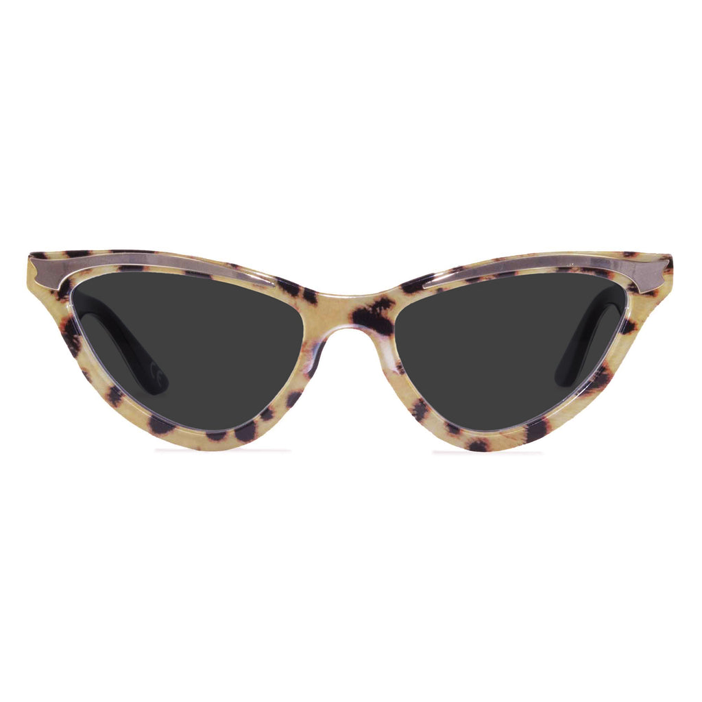 maryloo leopard cat eye sunglasses