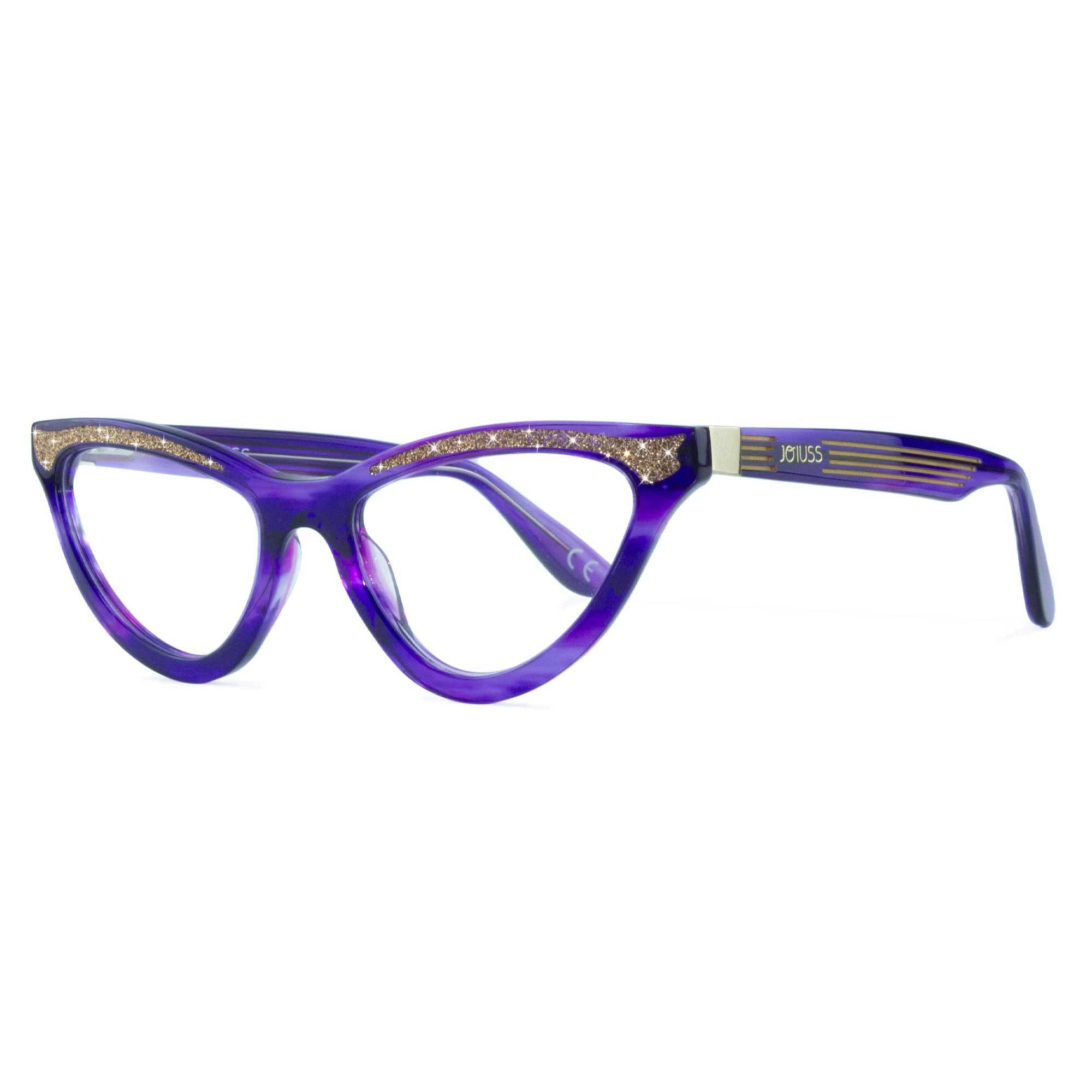 purple cat eye glasses