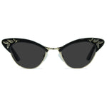 rita gloss black gold cat eye sunglasses