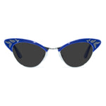 rita gloss blue gold cat eye sunglasses