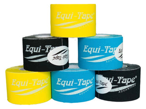 "Advantage 2"" Tape - Color Pack Combo #1 - 2 Rolls of Each (Black, Light Blue, Yellow) - Equi-tape"