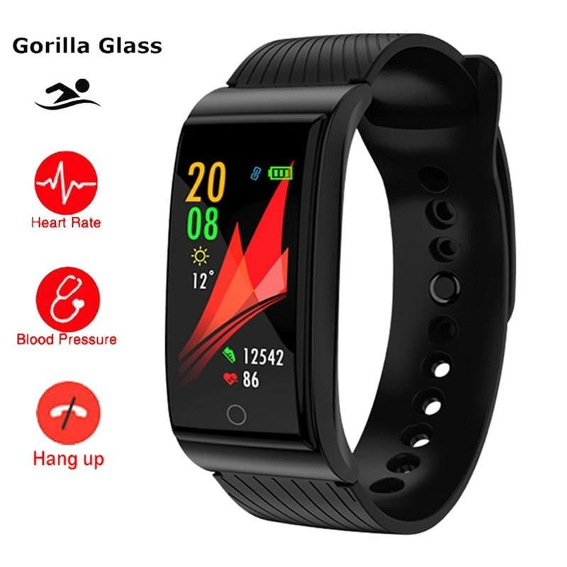 Blood Pressure Heart Rate Monitor Fitness Smartwatch For Apple iPhone iOS / Android